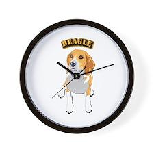 Beagle Dog with Text Wall Clock
