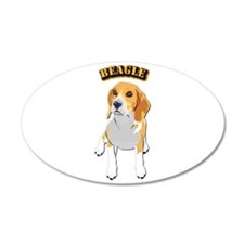 Beagle Dog with Text Wall Sticker