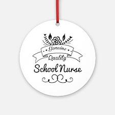 Genuine Quality School Nurse Ornament (Round)