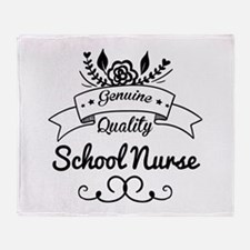Genuine Quality School Nurse Throw Blanket