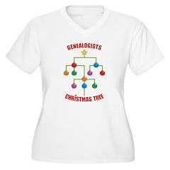 Genealogists Christmas Tree T-Shirt