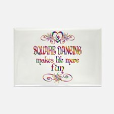 Square Dancing More Fun Rectangle Magnet