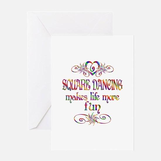 Square Dancing More Fun Greeting Card