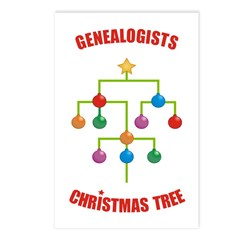 Genealogists Christmas Tree Postcards (Package of