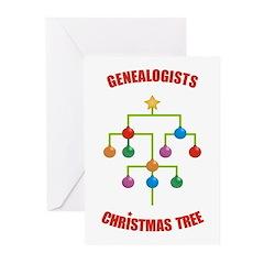 Genealogists Christmas Tree Cards (x10)