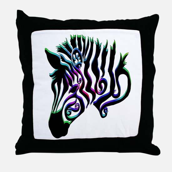 ZEBRA!! Throw Pillow