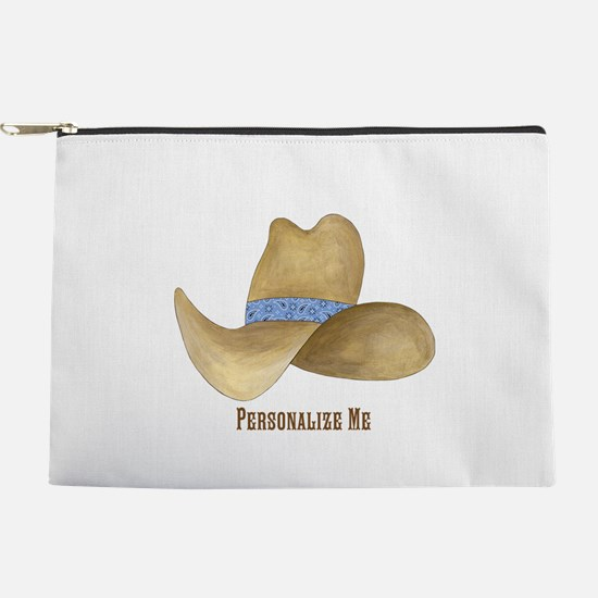 Personalized Cowboy Hat Makeup Pouch