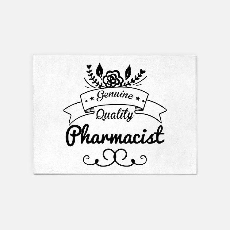 Genuine Quality Pharmacist 5'x7'Area Rug