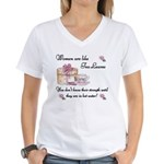 Women are Like Tea Leaves Women's V-Neck T-Shirt