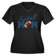 Football Mom Women's Plus Size V-Neck Dark T-Shirt