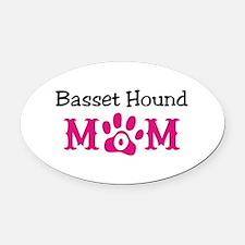 Basset Hound Oval Car Magnet
