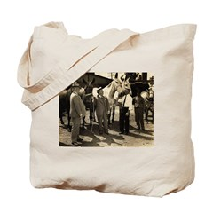 Mayor Maistri inspects mules Tote Bag