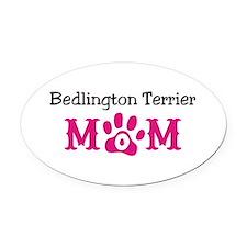 Bedlington Terrier Oval Car Magnet