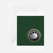 Golf Cup and Ball Greeting Cards
