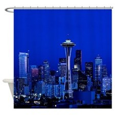 Seattle Space Needle at Night Shower Curtain