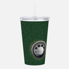 Golf Cup and Ball Acrylic Double-wall Tumbler