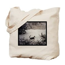 KITTY'S FIRST SNOW Tote Bag
