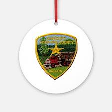 Josephine County Sheriff Ornament (Round)