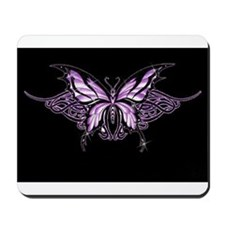 Purple Tribal Butterfly Mousepad