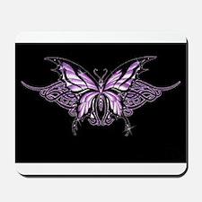 Purple Tribal Butterfly Mousepad