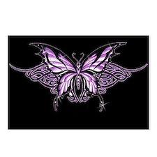 Purple Tribal Butterfly Postcards (Package of 8)