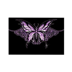 Purple Tribal Butterfly Rectangle Magnet (10 pack)