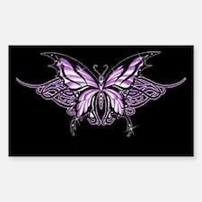 Purple Tribal Butterfly Rectangle Bumper Stickers