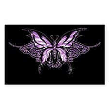 Purple Tribal Butterfly Rectangle Stickers