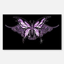 Purple Tribal Butterfly Rectangle Stickers
