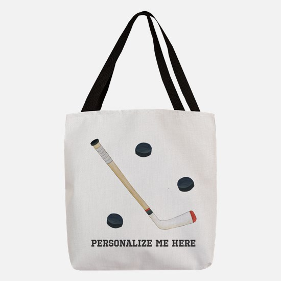 Personalized Hockey Polyester Tote Bag