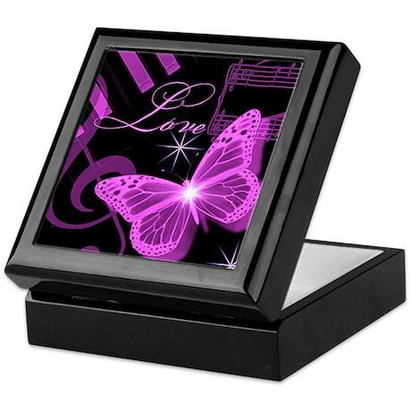 Musical Butterfly Keepsake Box