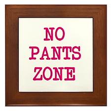No Pants Zone Pillow Framed Tile