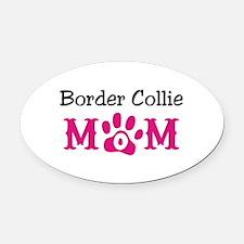Border Collie Oval Car Magnet
