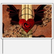 Heart with dragon Yard Sign
