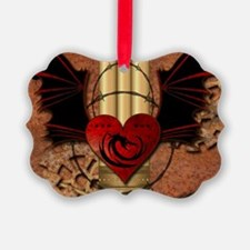 Heart with dragon Ornament