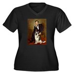 Lincoln's German Shepherd Women's Plus Size V-Neck