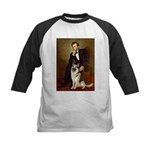 Lincoln's German Shepherd Kids Baseball Jersey