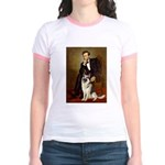 Lincoln's German Shepherd Jr. Ringer T-Shirt