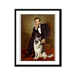 Lincoln's German Shepherd Framed Panel Print