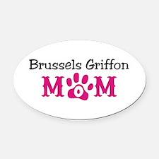 Brussels Griffon Oval Car Magnet