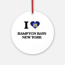 I love Hampton Bays New York Ornament (Round)