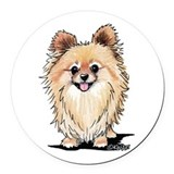 Pomeranian Round Car Magnets