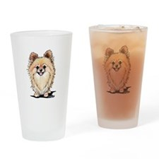 KiniArt Bella Pom Drinking Glass