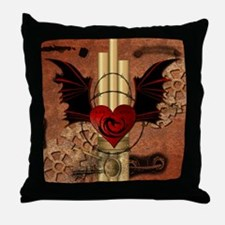 Heart with dragon Throw Pillow