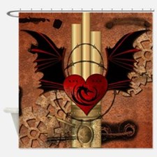 Heart with dragon Shower Curtain