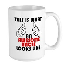 What An Awesome Uncle Looks Like Mugs