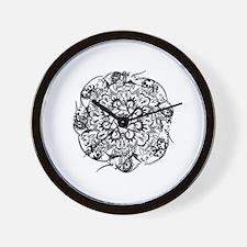 Rat Mandala Wall Clock