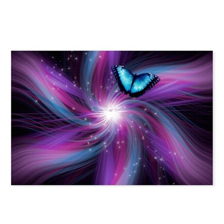 Swirl Butterfly Postcards (Package of 8)