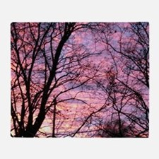 Cute Purple sunset Throw Blanket