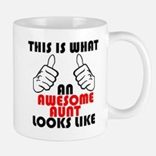 What An Awesome Aunt Looks Like Mugs